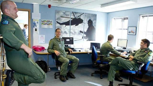 Flight Lt. Wales is part of a four man SAR crew. Each crew member is required to keep their training current, which may include taking computer-based courses.