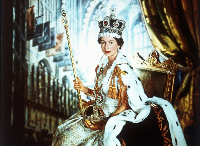 Cecil Beaton's famous coronation portrait of the Queen. Well known for portraits of many members of the royal family, Beaton always considered the Queen Mother his favorite subject.