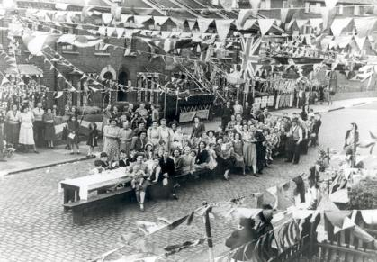 The coronation gave regular Britons a chance to celebrate after years of austerity. Some street parties were very elaborate!
