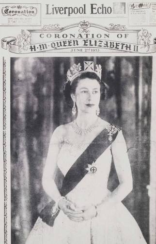 The Queen's coronation was the Big News of the Day. The front page of the Liverpool Echo on June 2, 1953.