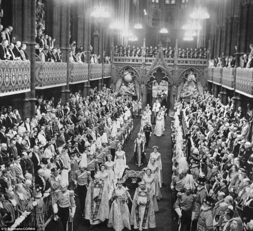 queen coronation procession