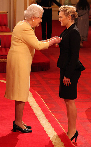 "Actress Kate Winslet was awarded a CBE in 2012 for ""services rendered to drama"". While the Queen asked if she enjoyed acting, Winslet said yes, but that she enjoyed motherhood more. ""Yes, it is the best job,"" replied the Queen."