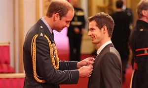 Awarded an OBE for services to tennis, Wimbledon champion Andy Murray was surprised that William spent over a minute talking to him during the ceremony.