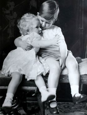 Despite this friendly moment, Charles and his sister Princess Anne fought as children so Prince Philip gave each of them a pair of boxing gloves. They had to be taken away after Anne consistently beat her brother up.