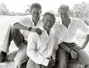 Charles, William and Harry pose for their 2004 Christmas card. Charles turned down a cameo role in Doctor Who despite having been a fan of the show since he was 15. But he did make a guest appearance as himself in Coronation Street's 40th year anniversary episode.