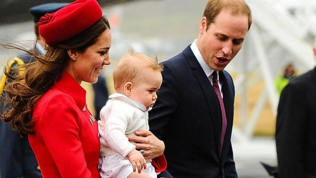 On arrival in New Zealand at the start of their tour, adorable eight-month-old Prince George stole the spotlight from his parents.